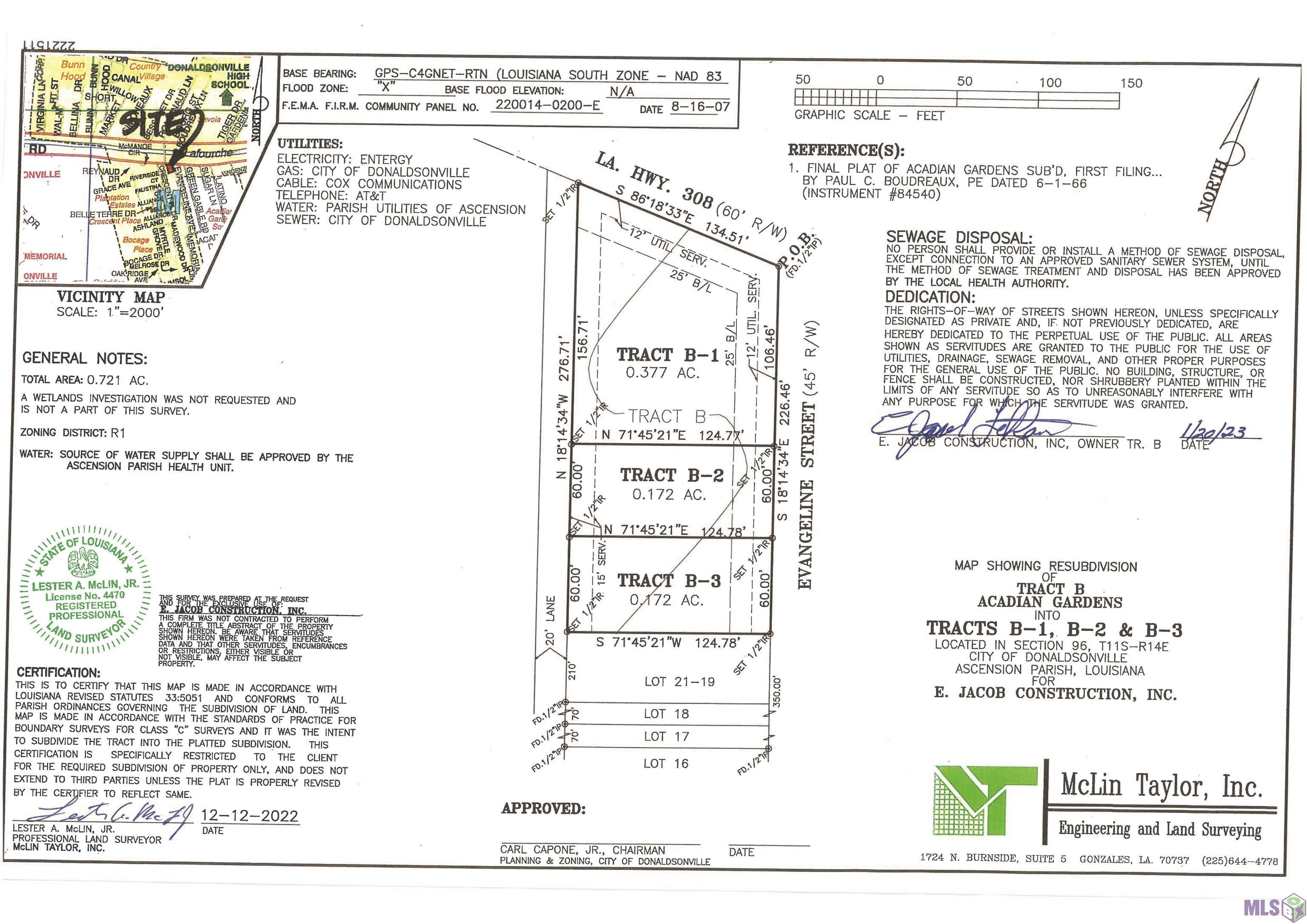 Proposed Lot B Evangeline Dr, Donaldsonville LA 70346